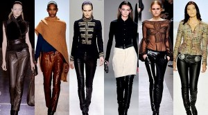 pants made ​​of artificial leather