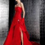 свадебные платья красного цвета_2