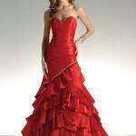 свадебные платья красного цвета_3