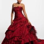 свадебные платья красного цвета_4