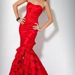 свадебные платья красного цвета_5