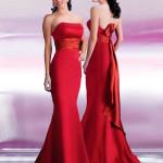 свадебные платья красного цвета_7