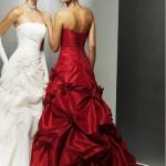 свадебные платья красного цвета_8