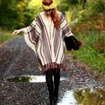 How to wear a poncho 2