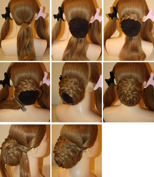 классический пучок из кос