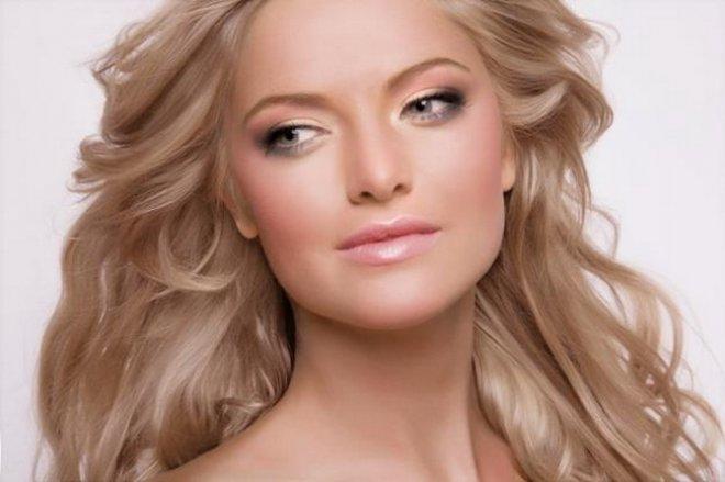 макияж для блондинок с серыми глазами фото 1
