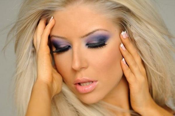 вечерний макияж для блондинок фото 1
