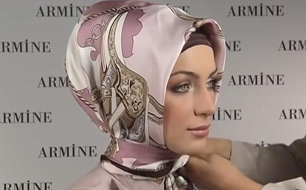 как завязать платок по мусульмански