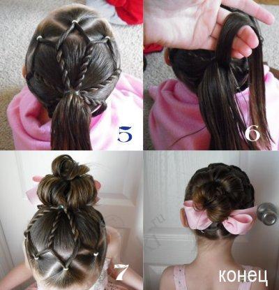 Прически на короткие детские волосы