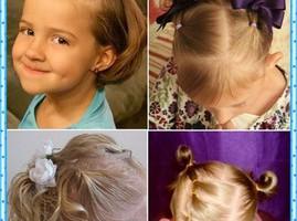прически на длинные детские волосы