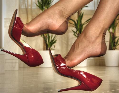 туфли на высоком каблуке фото 8