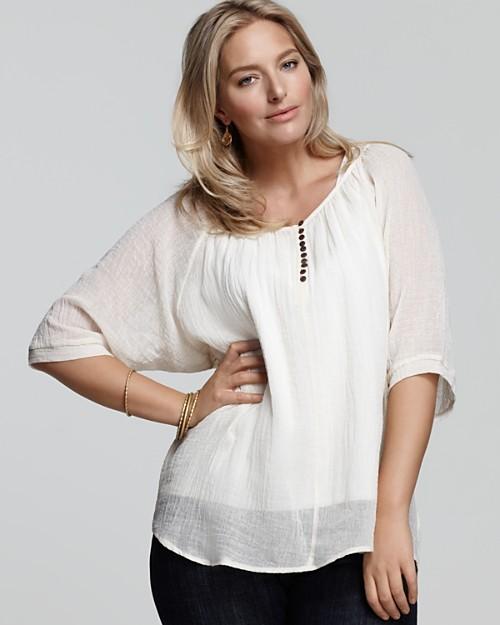 блузки для полных женщин 4