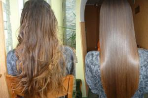 биоламинирование волос, фото до и после