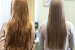 биоламинирование волос, фото до и после 3