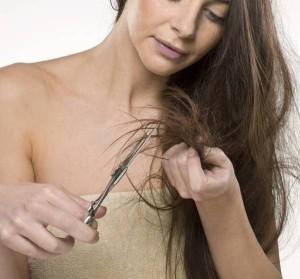 как подстричь концы волос