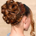 букли из волос на свадьбу 2