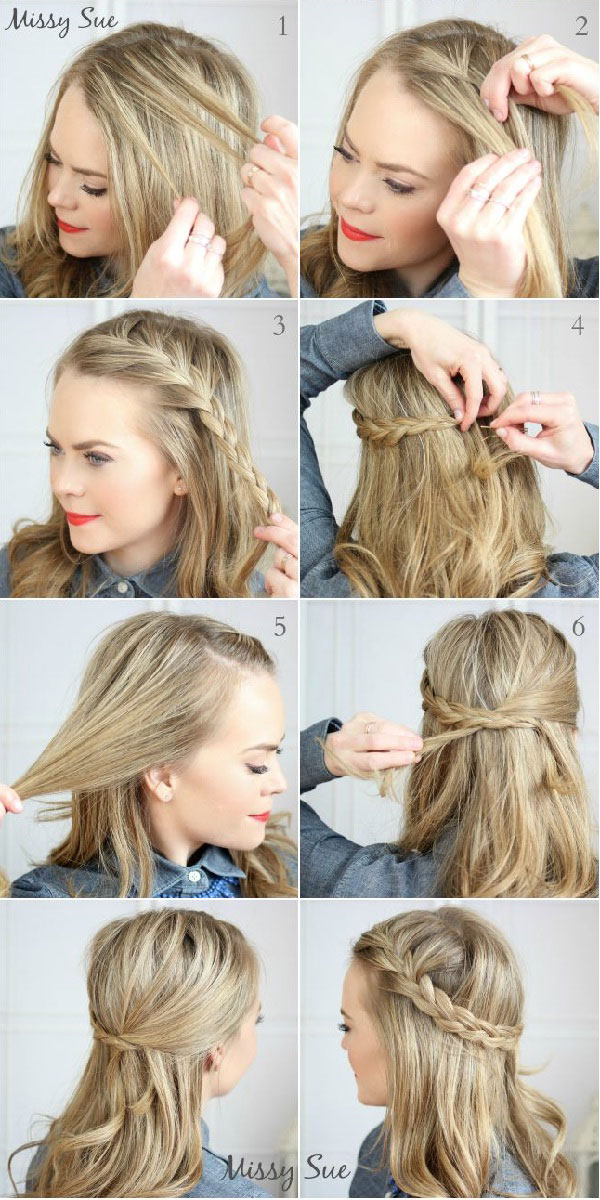 повседневные причёски на длинные волосы своими руками фото