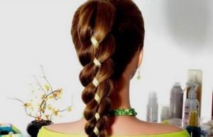 плетение кос с лентами видео