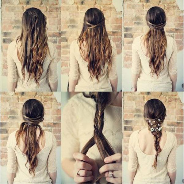 плетение кос на длинные волосы пошагово