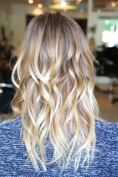 омбре фото на светлые волосы фото