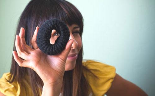 как сделать бублик для волос