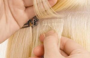 процедура ленточное наращивание волос