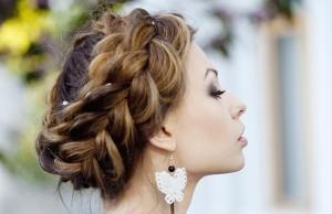 свадебные косы на длинных волосах