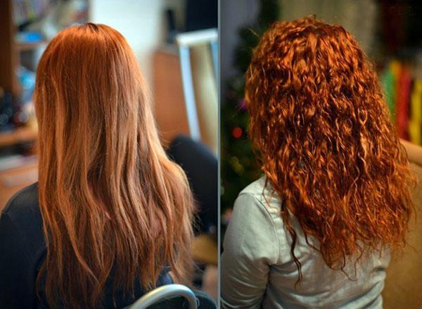 биозавивка волос фото до и после