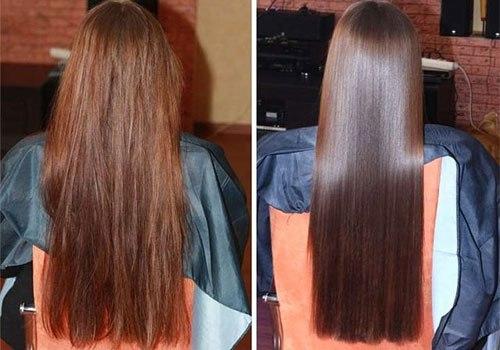 глазирование волос, преимущества процедуры