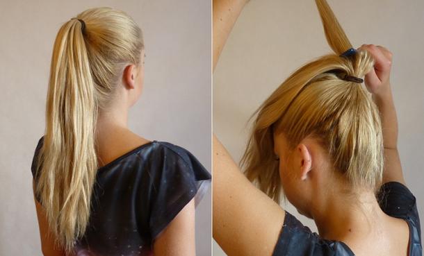 высокая прическа на средние волосы своими руками