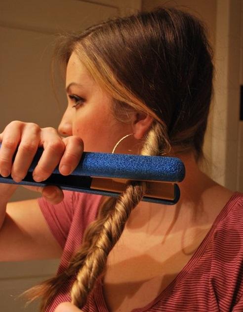 повседневные прически на средние волосы своими руками