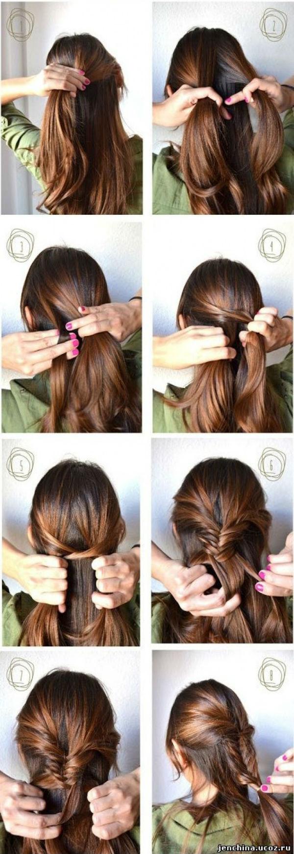 Причёски с косичками простые