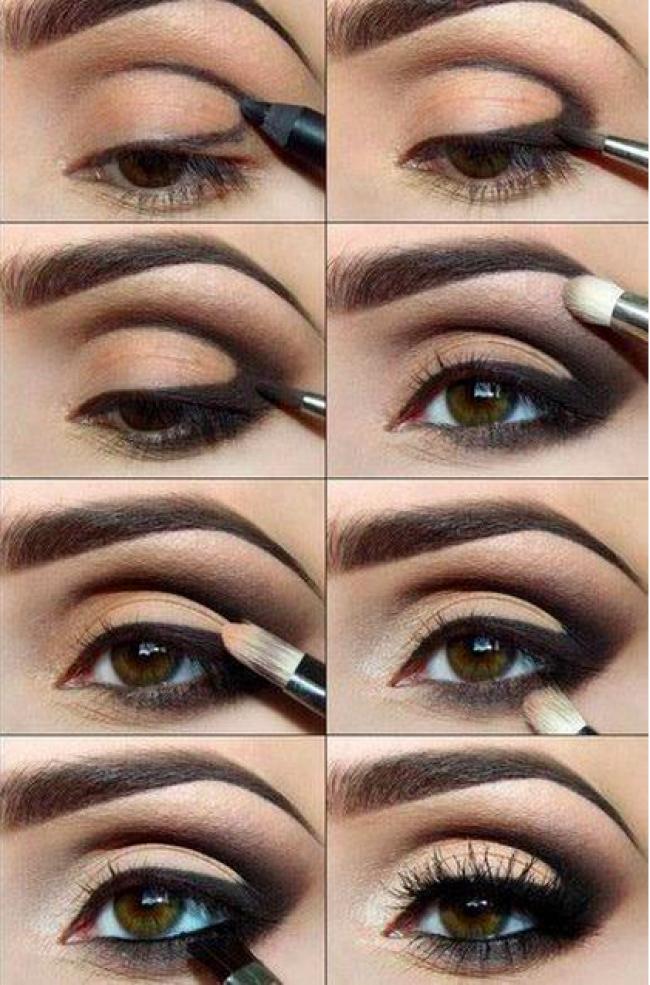 макияж для карих глаз пошагово