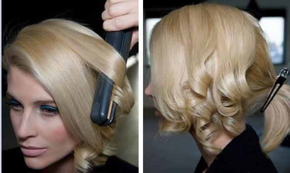 красивая и праздничная прическа для коротких волос