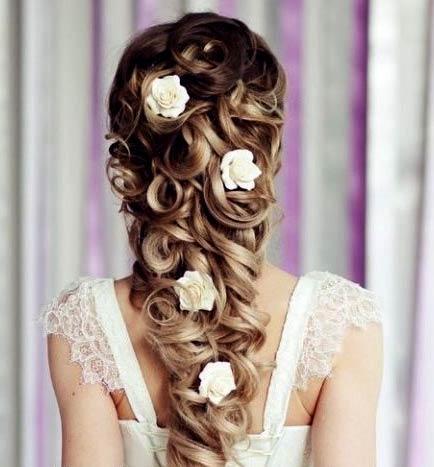 прически свадебные фото с цветами: