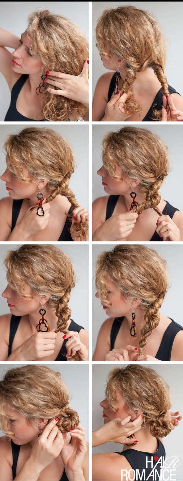 плетение кос на кудрявые волосы фото