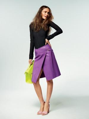 с чем носить кожаную юбку фото 12