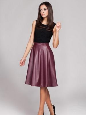 с чем носить кожаную юбку фото 8