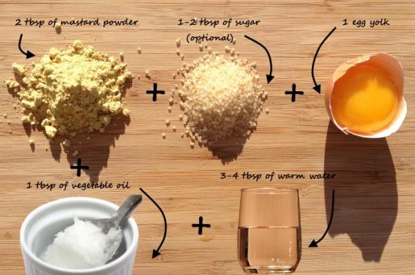 горчичная маска для волос рецепт