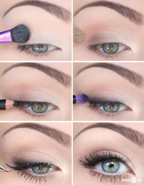 повседневный макияж глаз пошагово